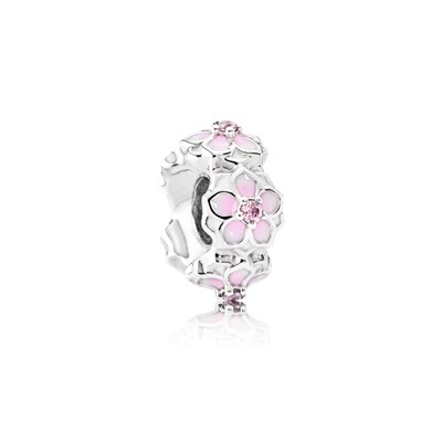 Pandora Distanziatore Fiore di Magnolia Originale Argento Sterling 792088PCZ