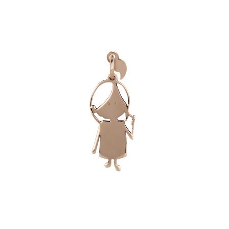 Charm Virgola Dolls VJ0045 Bambina oro rosa