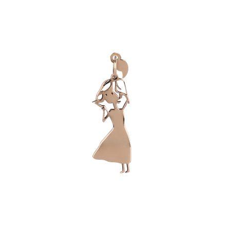 Charm Virgola Dolls VJ0046 Sognatrice oro rosa