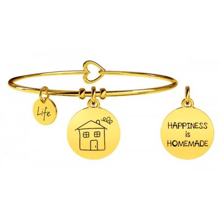 Bracciale Kidult Family Home acciaio Happiness is Homemade 231573