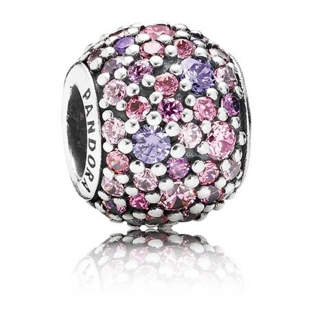 Charm Pandora Originale Argento 791261ACZMX Sfera Mosaico Rosa