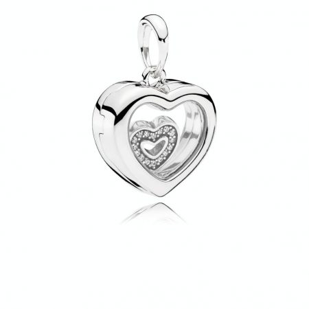 Pandora Charm Pendente Floating Heart Locket 792111CZ