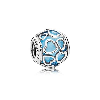 Pandora Charm 792036NBS Apri il tuo Cuore Azzurro