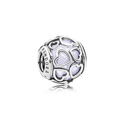 Pandora Charm 792036NOW Apri il tuo Cuore opale bianco