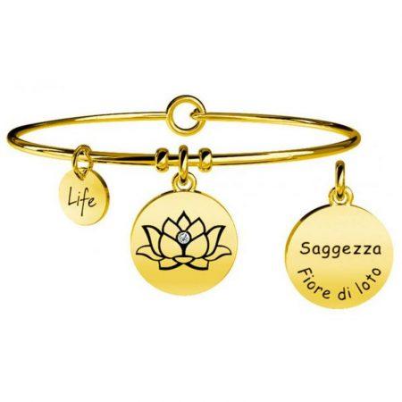 Bracciale Kidult Collezione Life Symbols Fiore di loto 231609 Saggezza