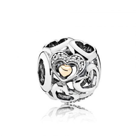 Pandora Charm Cuore Romantico 792108CZ