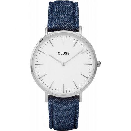 Cluse La Bohème Orologio Cassa Silver Cinturino Jeans CL18229
