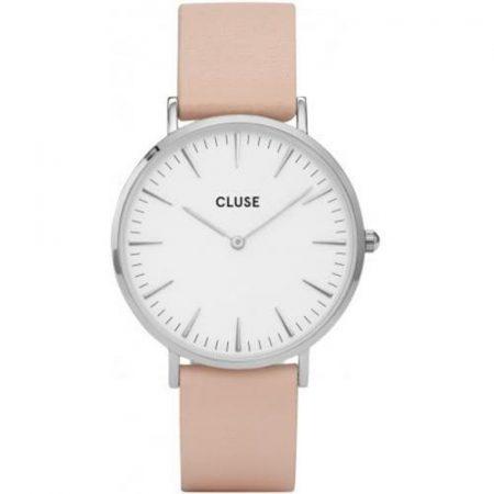 Cluse La Bohème Orologio Cassa Silver Cinturino Pelle Rosa CL18231