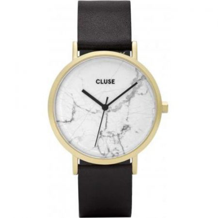 Cluse La Roche Cassa Oro Quadrante Marmo CInturino Pelle CL40003