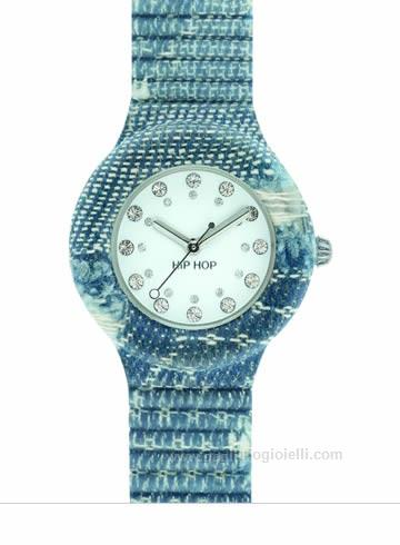 Orologio Hip-Hop HWU0666 Jeans Collection Blu
