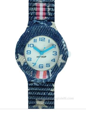 Orologio Hip-Hop HWU0679 Jeans Collection Blu Star