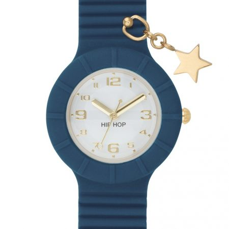 Orologio Hip-Hop HWU0689 Piercing Dark Denim (Star)