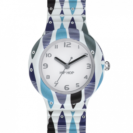 Orologio Hip-Hop HWU0791 Summer Blue Fishes