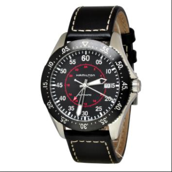Hamilton Orologio Khaki Pilota GMT Automatico Pelle H76755735