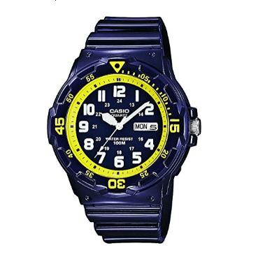 Orologio Casio Cassa Cinturino Resina Blu Lucido MRW-200HC-2BVEF