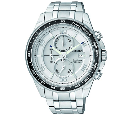 Orologio Citizen Supertitanio Chrono Eco-Drive Quadrante Bianco CA0340-55A