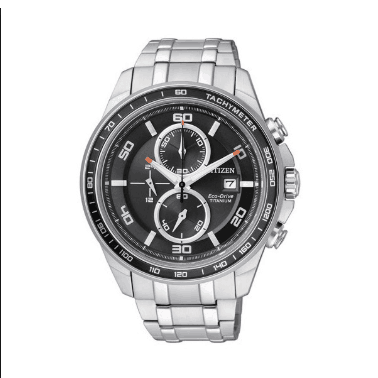 Orologio Citizen Supertitanio Chrono Eco-Drive Quadrante Nero CA0340-55E