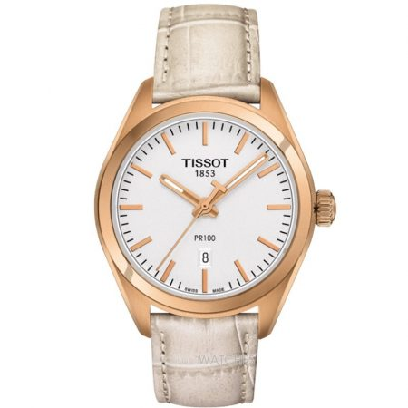 Tissot PR 100 Lady Swiss Made Quarzo Cassa Rosè T101.210.36.031.00