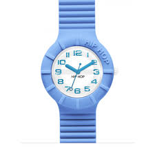 Orologio Hip-Hop HWU0527 Numbers Glitter Azzurro
