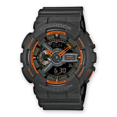 Orologio Casio G-Shock Cassa Cinturino Resina Grigio Antiurto GA-110TS-1A4ER