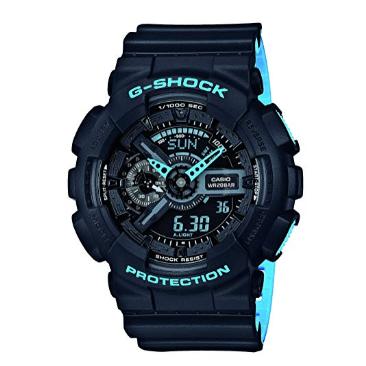 Orologio Casio G-Shock Cassa Resina Antiurto Nero Azzurro GA-110LN-1AER
