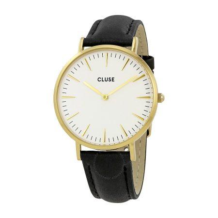 Cluse La Bohème Orologio Cassa Oro Cinturino Pelle Nera CL18406