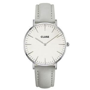 Cluse La Bohème Orologio Cassa Silver Cinturino Pelle Grigio CL18215