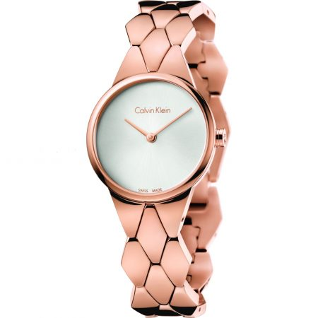 Orologio Calvin Klein K6E23646 collezione Snake rosè