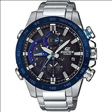 Orologio Casio Edifice Bluetooth Acciaio Quadrante Blu EQB-800DB-1AER
