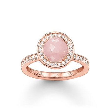 "Thomas Sabo Anello Solitario ""Light of Moon"" Rosa TR1971-417-9-54"