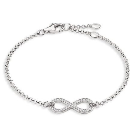 Thomas Sabo Bracciale Infinity Argento Sterling Zirconi A1310-051-14