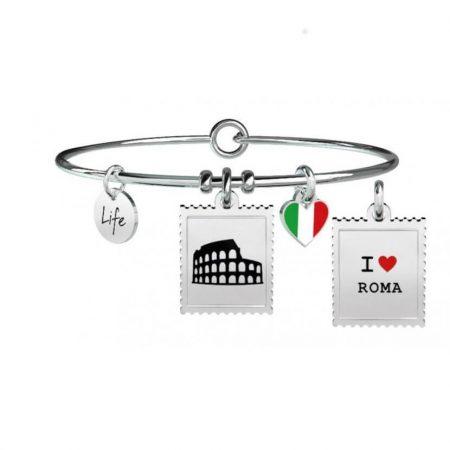 Bracciale Kidult Life Free Time Roma in acciaio e smalto 731236