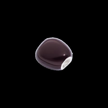 Queriot Sasso Cioccolato Smaltato Marrone Argento 925 SASA00LARCIO