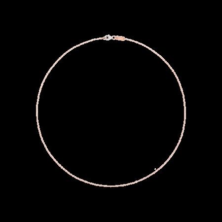 Queriot Collana Catenina Oro Rosa 9 kt Rollò 42 cm K11O06-42