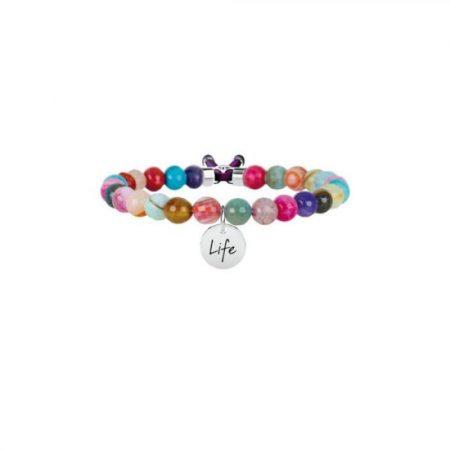 Bracciale Kidult Agata Multicolor Symbols Life Collection 231533