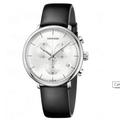 Calvin Klein High Noon Cassa Acciaio Cronografo Pelle K8M217C6
