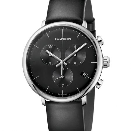 Calvin Klein High Noon Cassa Acciaio Cronografo Pelle K8M271C1