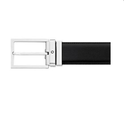 Cintura Montblanc Casual Ad Ardiglione Reversibile Pelle 113274