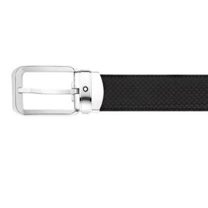 Cintura Montblanc Extreme Classic Effetto Fibra Carbone Palladio 114437