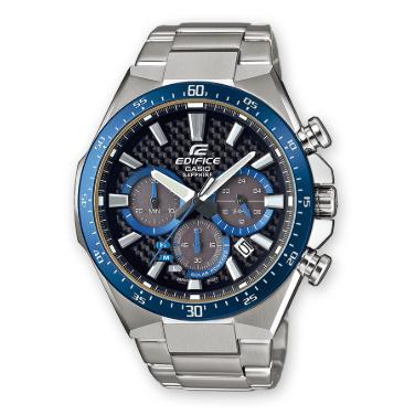 Orologio Casio Edifice Acciaio Effetto Carbonio Ghiera Blu EFS-S520CDB-1BUEF