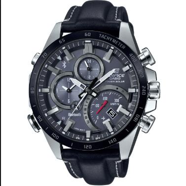 Orologio Casio Edifice Bluetooth Acciaio Cinturino Pelle EQB-501XBL-1AER