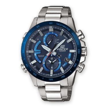 Orologio Casio Edifice Bluetooth Acciaio Quadrante Blu EQB-900d-2AER