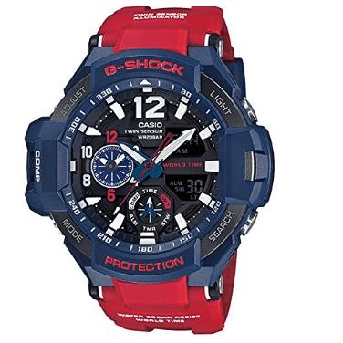 Orologio Casio G-Shock Rosso Blu GravityMaster GA-1100-2AER