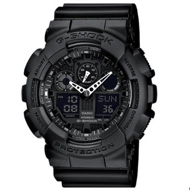 Orologio G-Shock Casio Nero Opaco Antiurto GA100-1AER