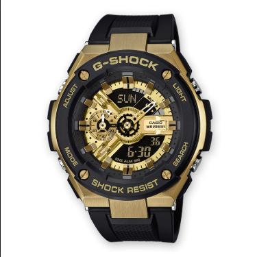 Orologio G-Shock Casio Resina Nera Quadrante Oro GST-400G-1A9ER