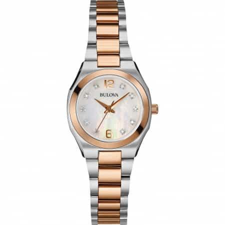 Orologio Bulova solo tempo donna collezione diamanti 98P143