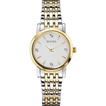 Orologio Bulova solo tempo da donna con diamanti 98P115