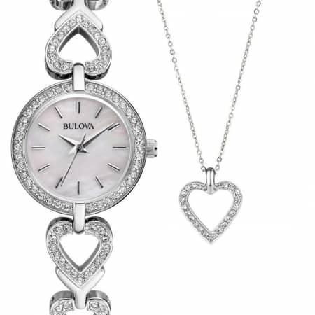 Orologio Bulova Solo Tempo Donna Collezione Crystal Box Set 96X136
