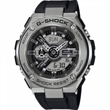 Orologio Casio G-Shock Cassa Acciaio Cinturino Resina GST-410-1AER