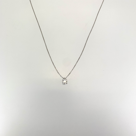 Collana Punto Luce Oro Bianco e Diamante Mirco Visconti IU12/50